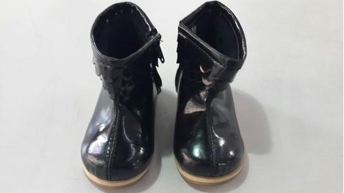 botas bebas acharoladas negras diez indiecitos talle 18
