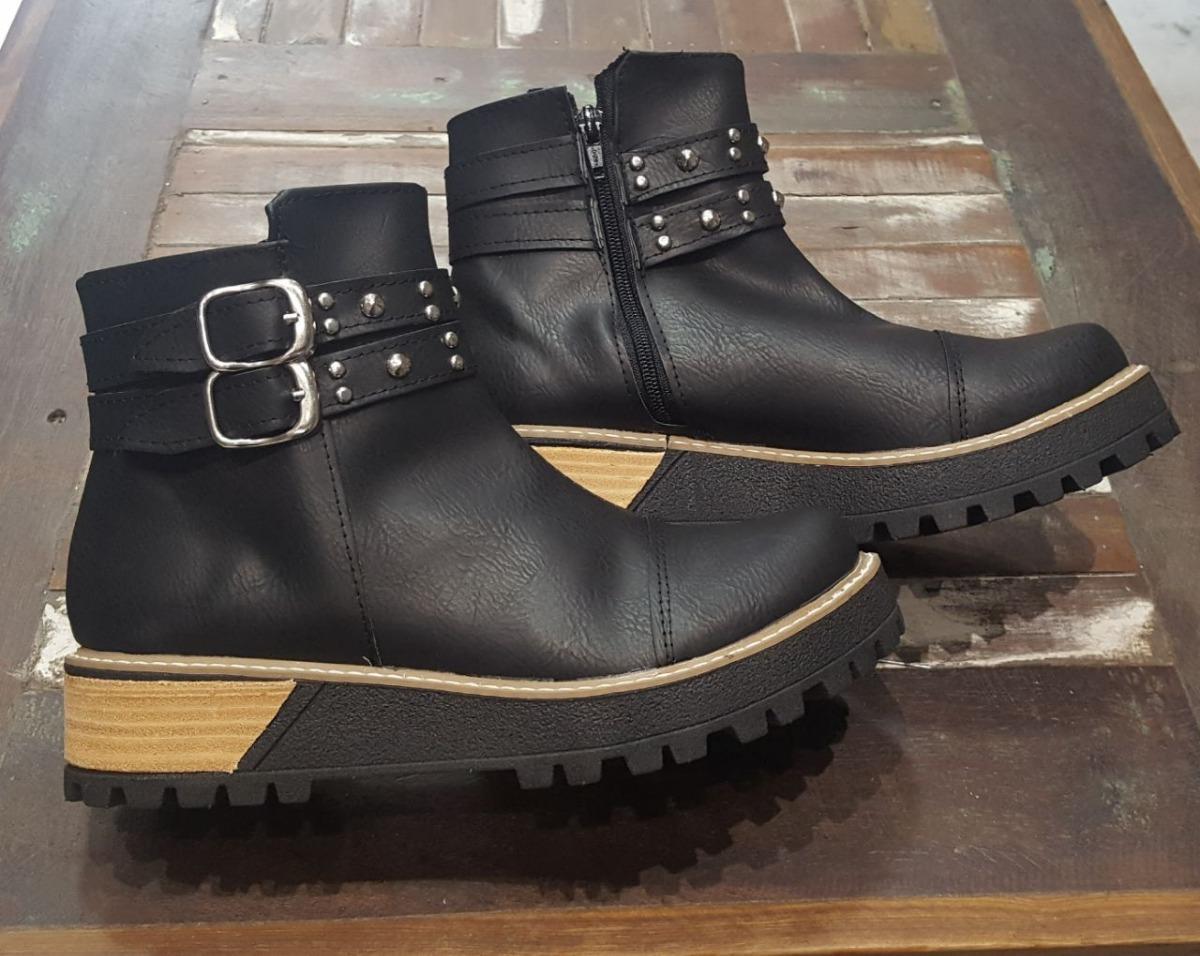Botas Borcegos Mujer Zapatos Botinetas Botinetas Botinetas De Cuero Eco 2018  600,00 9d3e53