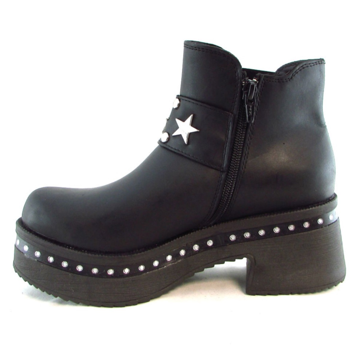 botas borcegos tachas zapatos cuero mujer invierno hot sale. Cargando zoom. a365d6bb1eb6