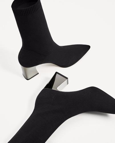 botas botín tejido elástico importado zara