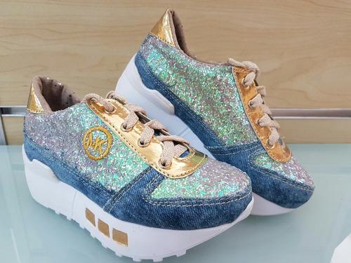 botas botines calzado mk para niñas de moda colombianos
