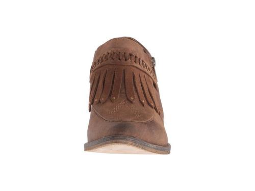 botas botines cuero café marrón volatile