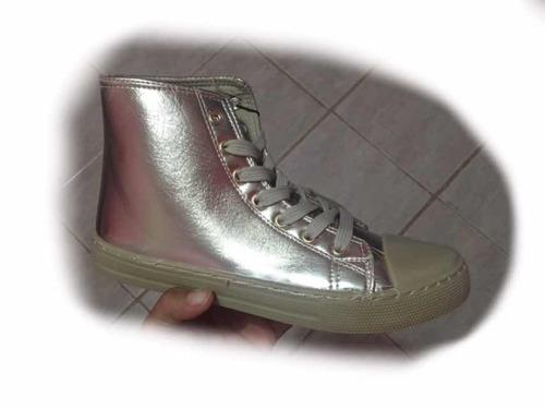 botas botines metalizado gomas moda dorado converse detal