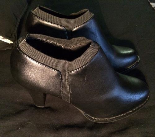 botas botines para dama color negro hermosas