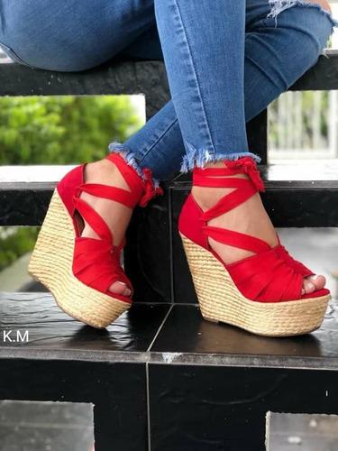 botas botines plataforma colombianas tacón corrido sandalias