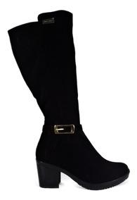 314ad217 Botas Botines Zapatos Mujer Tacon 5/2 Negro Nobuck