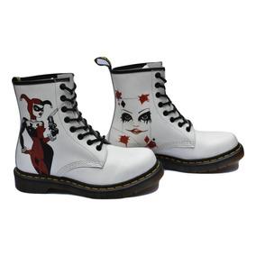 995a5354e4db Botas Dr Martens Blancas White Harley Quinn Mujer Fabiuluzz