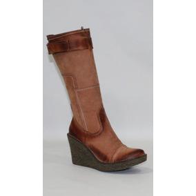 83feee26fcf Botas Marrones De Cuero Largas De Mujer - Zapatos en Mercado Libre ...
