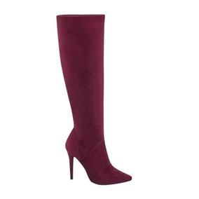 6339a8bb67f06 Botas Largas Dama Tacon Vino Perugia - Zapatos en Mercado Libre México