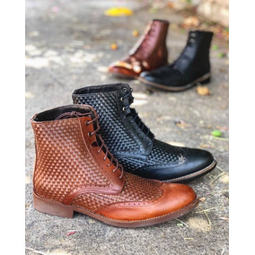 ef9c1bd4df691 Zapato Bota Para Caballero Bostoniano Tejido