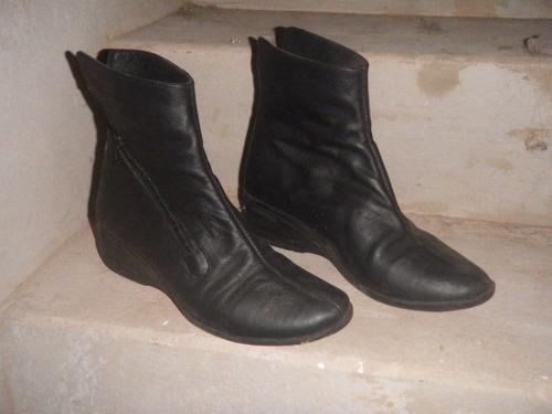 botas botinetas cuero taco chino cierre lateral - no envio