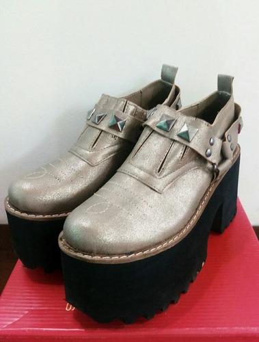 botas botinetas de cuero caña corta