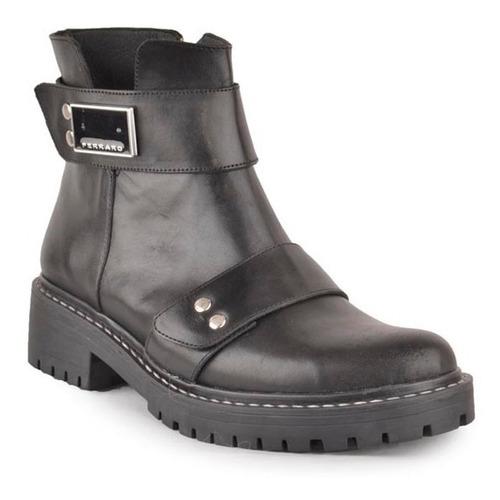 botas botinetas de cuero de mujer alejandrita - ferraro