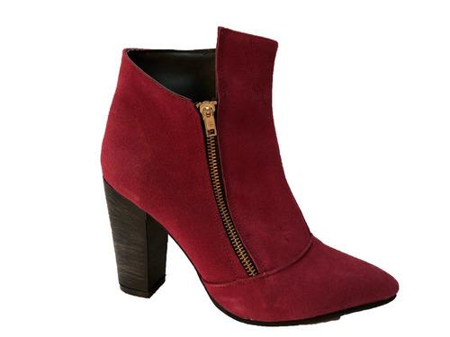 botas botinetas stilettos mujer gamuza de calzadosoher