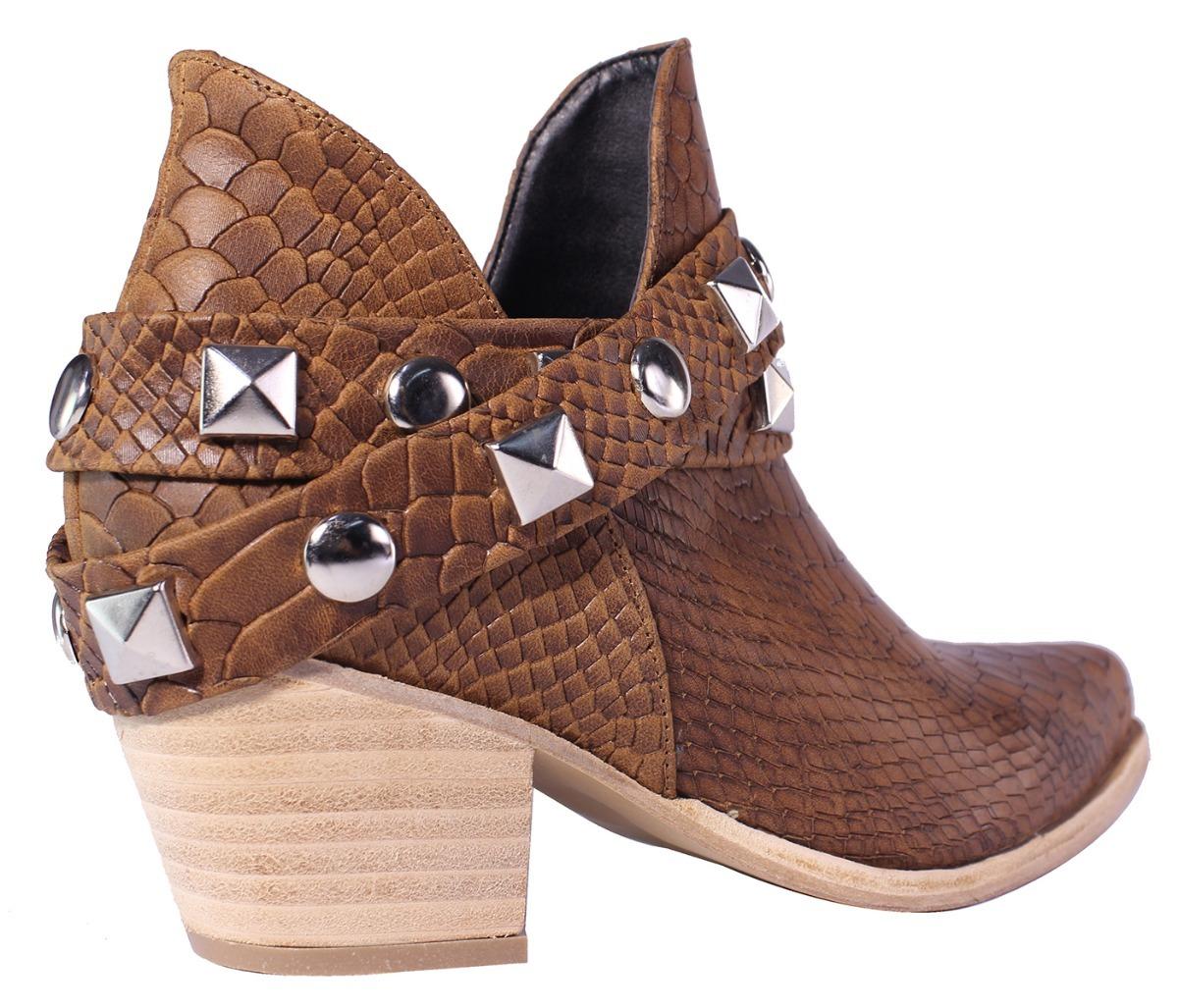 e4943f63e3 Cargando zoom... texanas mujer botas botitas botinetas cuero tops zapatos
