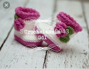 Botas A Crochet Niñas Para Botitas Princesas Tejidas Bebes XkiPZu