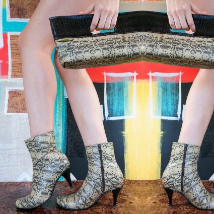 botas bottier mujer cuero, modelo media caña, piton beige