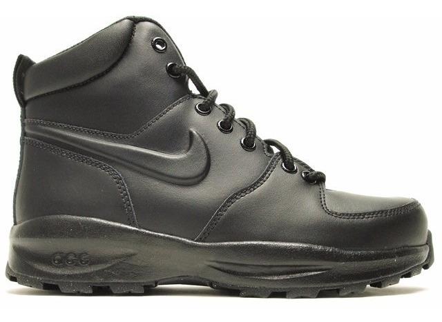 Botas Suela Nike Manoa Piel Negra Acg Terra Gym Caminata mn0w8N