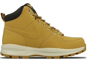 Botas Caminata Nike Air Manoa Piel Gamuza Color Miel Gym