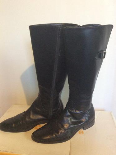 botas caña alta de cuero clona