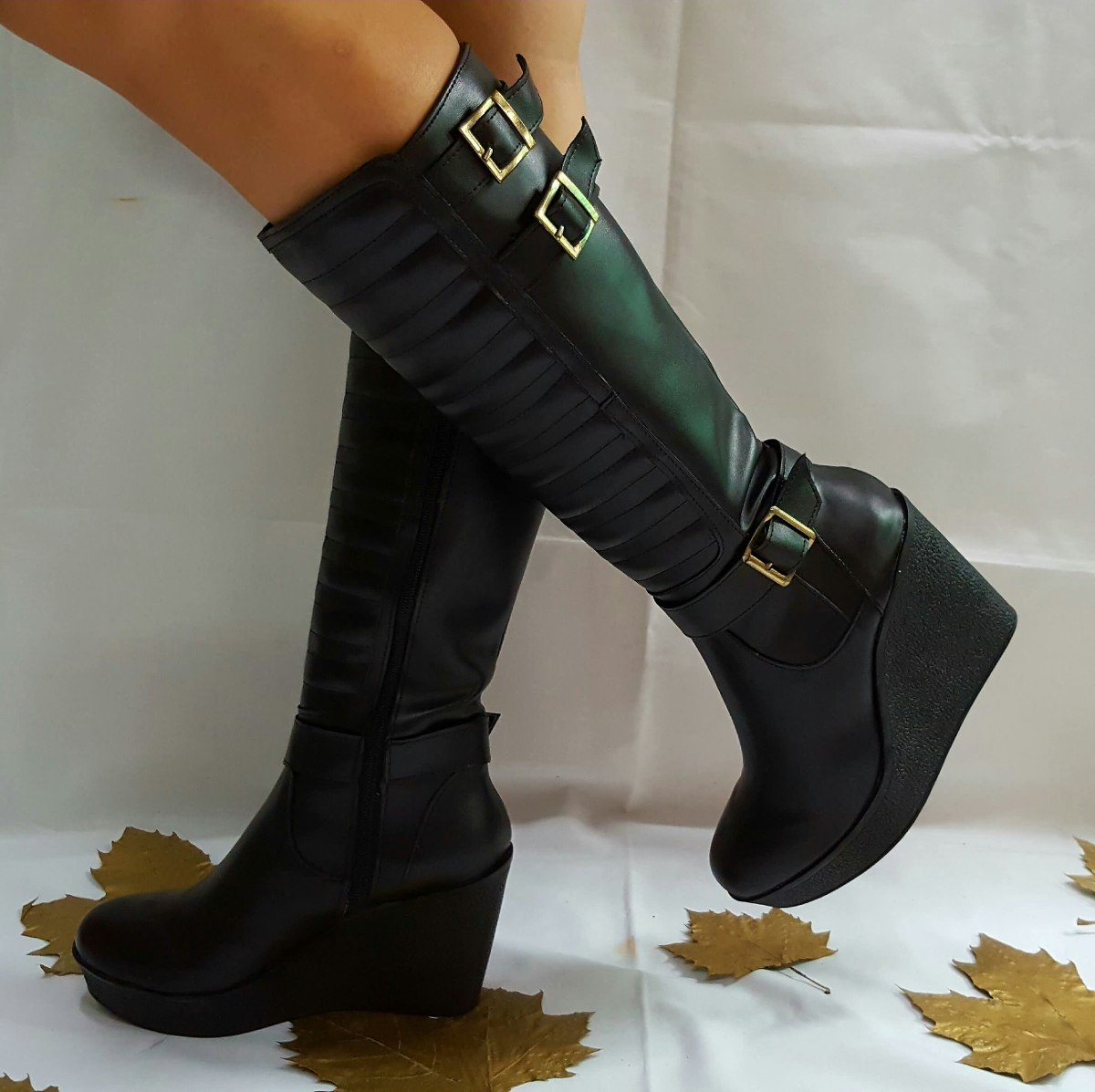 botas caña alta importadas cuero ecológico. Cargando zoom. 7d5ba46ab91c6