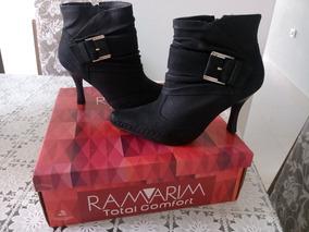 7d6c9e198 Ankle Boot Ramarim Total Confort Botas - Botas Ankle Boots no ...