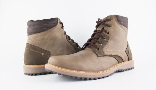 botas casuales cuero hombre calzado comodas - cocoa