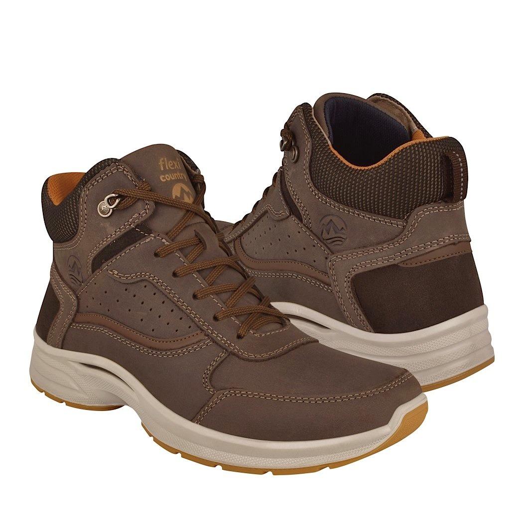 16a1ce3a263 botas casuales para caballero flexi 79802 piel chocolate. Cargando zoom.