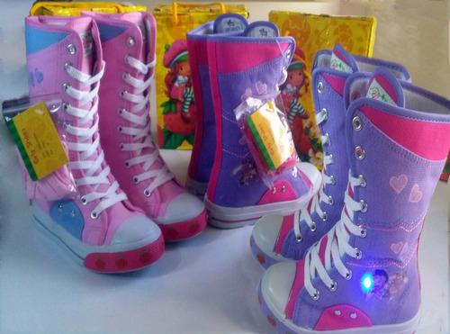 botas con luces rosita fresita talla 18 bebe deport s10
