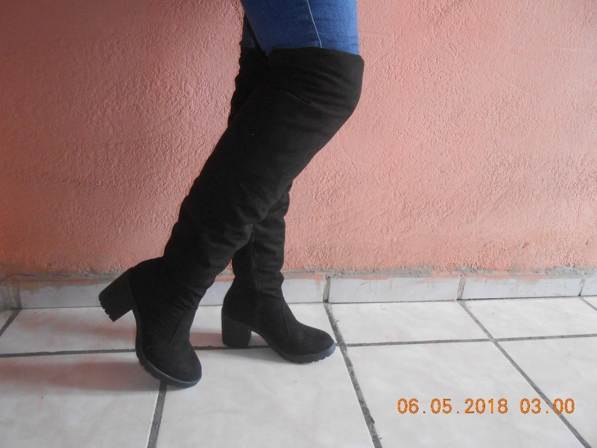 b30bfacee50 Botas Con Tacon Para Dama Tipo Mosquetero Color Negro - $ 460.00 en ...