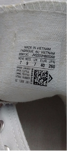 botas converse all star made in vietnam!! unisex