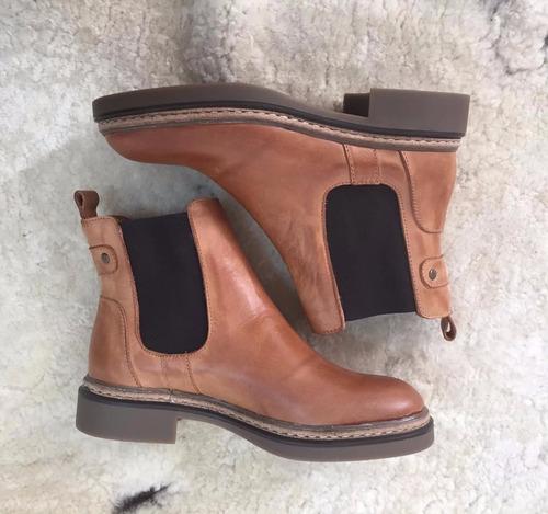 botas corta de cuero / ail - todo en cuero