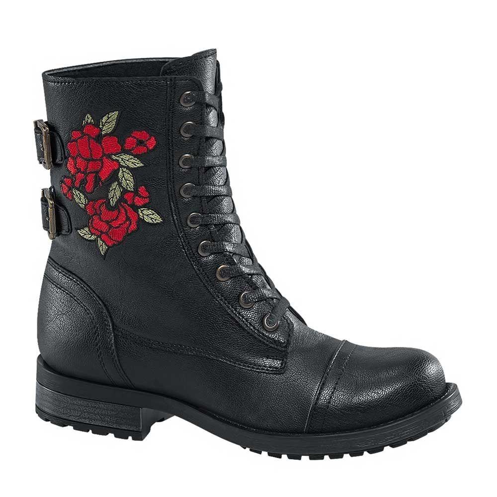 a4bd056075f botas corta heavy mujer tacon bajo negro sintetico bt321 a. Cargando zoom.