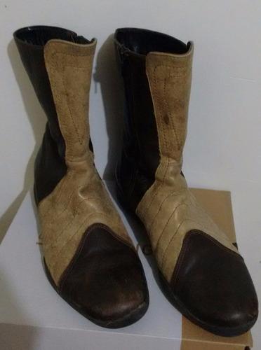 botas cortas cuero