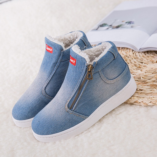 botas cortas de mezclilla para mujeres 3cm
