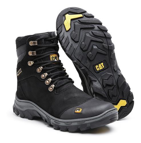 botas coturnos caterpillar em couro sapatos botinas