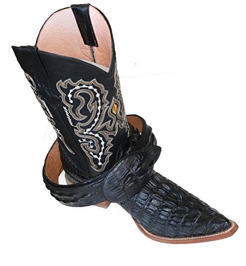 Botas Cowboy Cuero Cocodrilo Impreso Negro 8 .5 Us -   3 2601e19f376