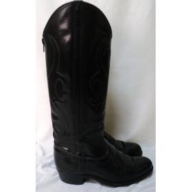Botas Cowboy Texanas Cuero Negro N 36 Plantilla 23,5