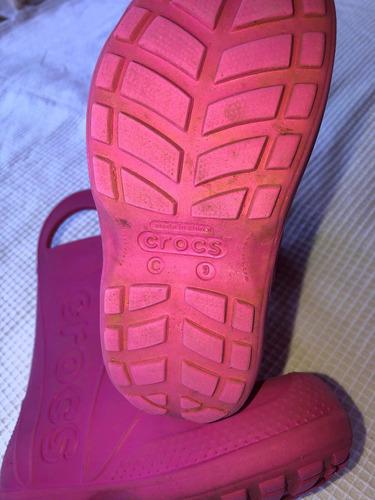 botas crocs niña ( 18 verdes )