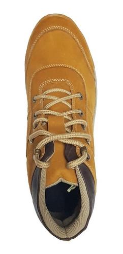 botas cuero 100% impermeables deportiva senderismo - miel