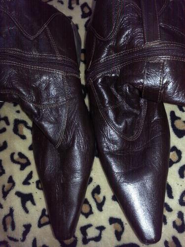 botas cuero colombiano marrón talla 36