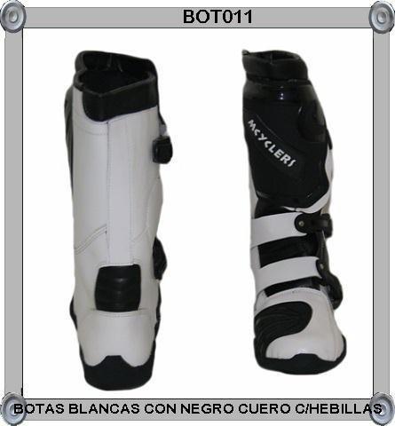 botas cuero de bufalo c/punta de acero para motociclista