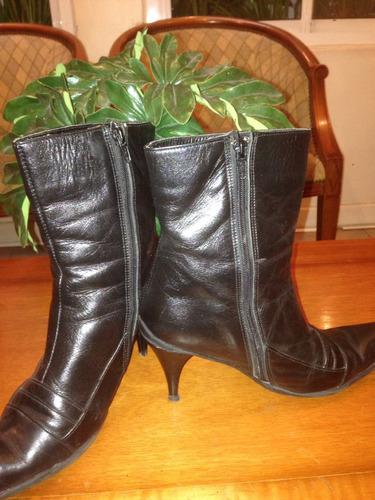botas cuero negras suela antideslizante febo
