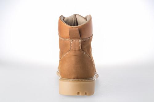 botas cuero nobuck calzado hombre deporte - miel
