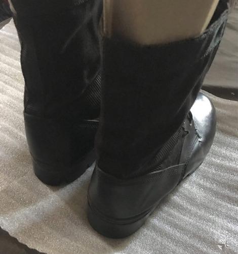 botas cuero y lona talla 41