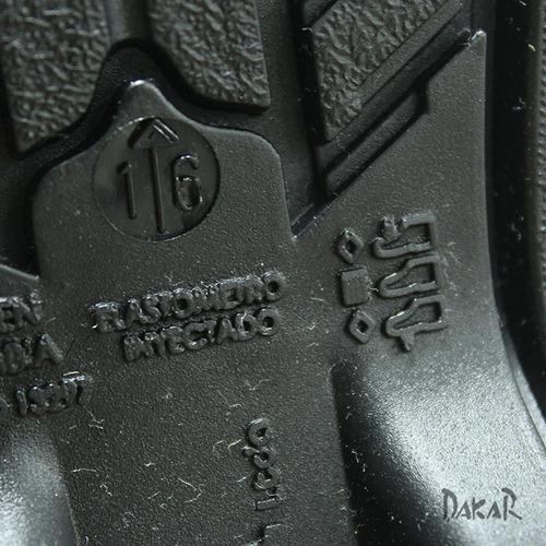 botas dakar impermeable pvc moto motociclismo negras unisex