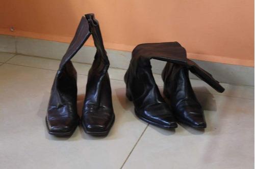 botas dama - puro cuero talla 40