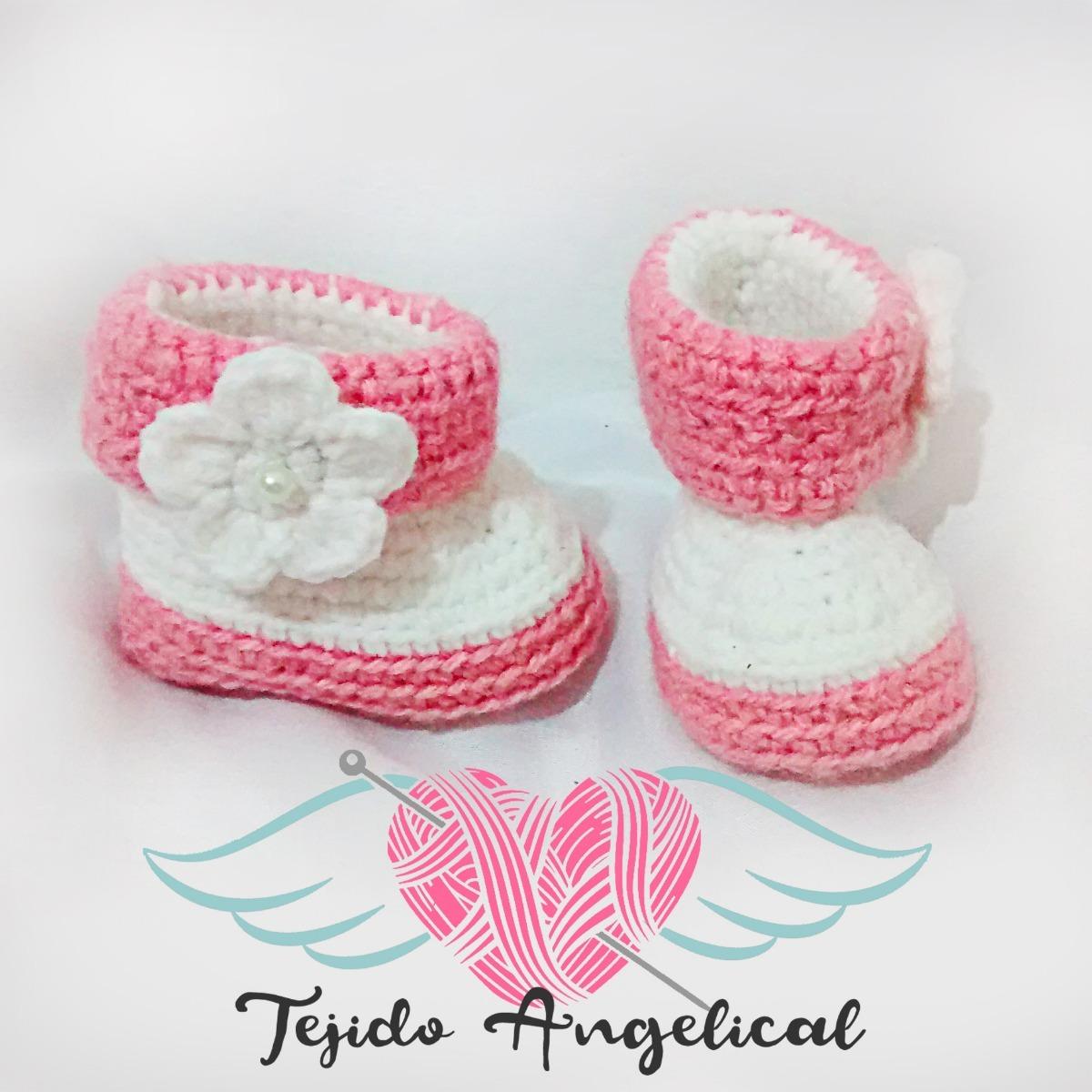 Botas De Bebé Tejidas Crochet Artesanales - $ 150,00 en Mercado Libre