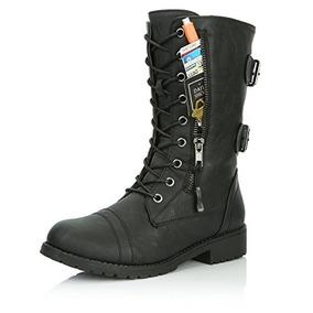 mejor selección 8ec1b a1e3d Botas De Combate De Cordón Militar Con Cordones, Para Mujer,