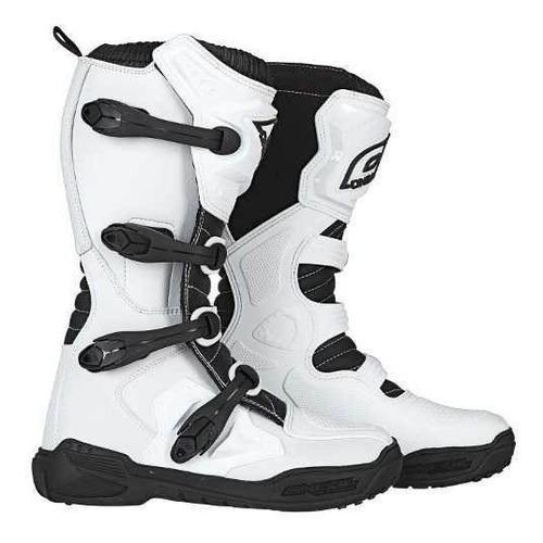 botas de cross oneal element blancas white atv mx yuhmak
